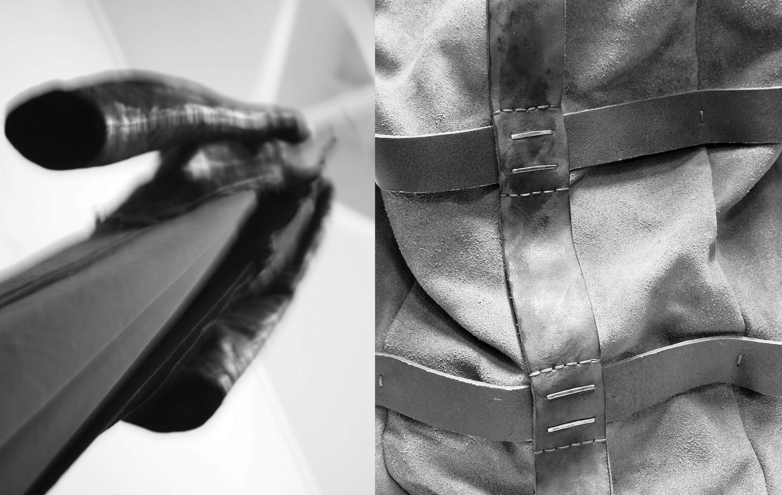 DANIELE BASTA leather and silver 925 handmade