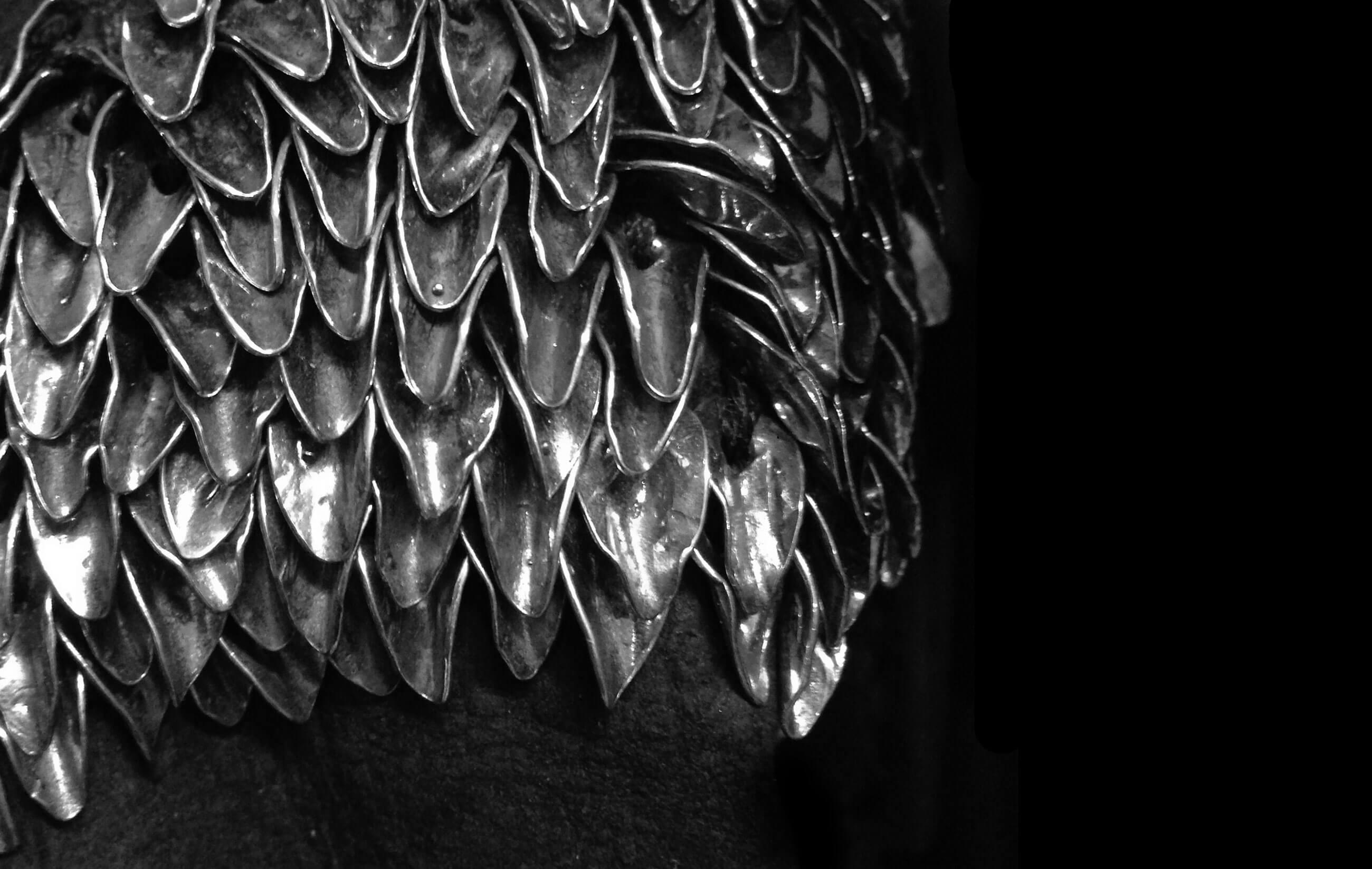 DANIELE BASTA silver 925 leaf